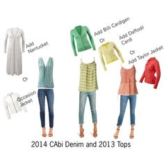 """""""Cabi 2014 Denim and 2013 Tops with 2014 layers"""" by hdawsonfnp on Polyvore"""
