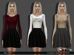 The Sims Resource: Classic Skater Outfit by Bill Sims • Sims 4 Downloads