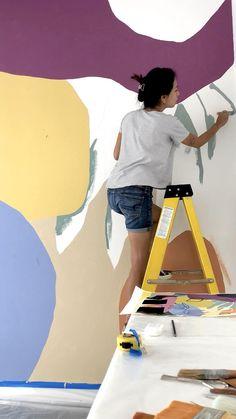 Murals Street Art, Mural Art, Wall Murals, Wall Art, Wall Painting Decor, Buddha Painting, Wallpaper Decor, Paint Designs, Bedroom