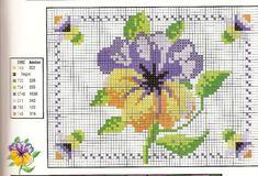Patrones de flores en punto de cruz para imprimir gratis - Imagui