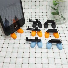 2 in 1 Cute Blue Shoes iPhone Stand Data Port Dust Plug Smart Phone Dust Stopper Dustproof Charm iPhone 4 4S 5
