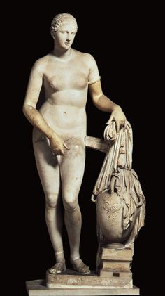 Aphrodite of Knidos  Composite of two other similar Roman copies after the original marble of   c. 350 BCE Late Classical Period