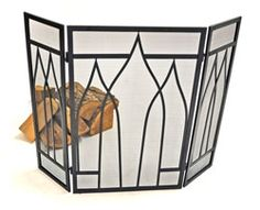 Mackintosh Fire Screen - This Mackintosh Fire Screen will bring a luxurious touch to any fire. It is a high quality product, with a brass and black finish. This fire screen combines looks with durability. Open Fires, Door Furniture, Knobs And Handles, Shelf Brackets, Door Knobs, Cast Iron, Doors, Dining Room, Lounge
