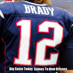 Lets get it done today, fellas!  Go Pats!!
