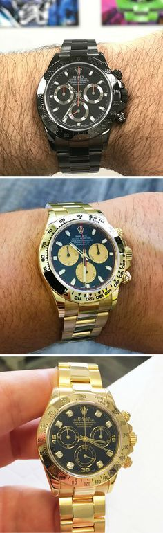 Rolex Daytona Chronograph Trilogy DLC-PVD, Gold Panda Dial, Gold & Diamond Dial, Watch Showcase For Men Living That Luxury Lifestyle