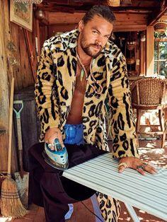 Lenny Kravitz, Jason Momoa Lisa Bonet, Jason Momoa Aquaman, Aquaman Actor, Esquire, American Actors, Celebrity Photos, Celebrity Portraits, Moda Masculina