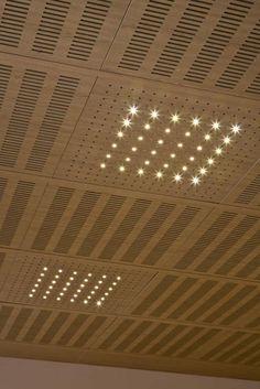 acoustic ceiling panels | Perforated acoustic tile for suspended ceiling IDEALED Ideatec