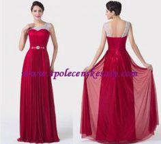 Červené stříbrné dlouhé společenské šaty na širší ramínka M L XL 42 44 L149 a4c718ee718