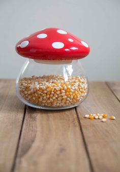 Amanita Second Helping Jar -- Once guests get a taste of the homemade goodies you've stored inside this glass mushroom jar from One Hundred 80 Degrees, they're sure to come back for a second serving. Kitchen Items, Kitchen Gadgets, Kitchen Dining, Kitchen Decor, Glass Mushrooms, Kitchen Accessories, Modcloth, Kitchenware, Tumblers