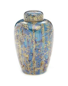 Daisy Makeig-Jones for Wedgwood 'Firblogs' a Fairyland Lustre Vase and Cover, circa 1925