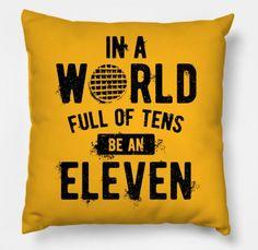 Stranger Things Pillow! In a World Full of Tens be an ELEVEN Pillow #SoCute #ChristmasList #IbeenGoodSanta  #StrangerThings #Pillow