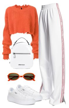 """""""Untitled #1471"""" by wavvy-k ❤ liked on Polyvore featuring Unravel, Misbehave, Puma and Armani Jeans"""