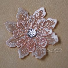 """Garden of Grace: Embossed Vellum Flower Tutorial and """"First Dance"""" Details for ScrapThat! How To Make Paper Flowers, Paper Flowers Diy, Flower Cards, Handmade Flowers, Fabric Flowers, Card Making Tips, Card Making Tutorials, Card Making Techniques, Making Ideas"""