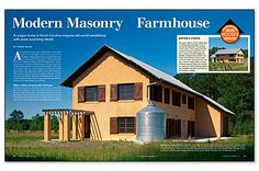 Editor's Choice: Modern Masonry Farmhouse