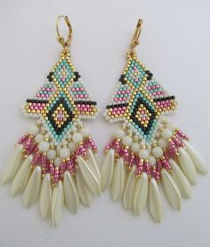 Native American Style Seed Bead Earrings Copyright by pattimacs
