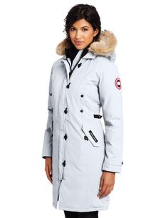 Canada Goose Womens Kensington Parka ($694.95) http://www.amazon.com/exec/obidos/ASIN/B0049INSAS/hpb2-20/ASIN/B0049INSAS This jacket is VERY warm. - Very good product, good quality!!!!!Great jacket. - This is the best coat I ever had.