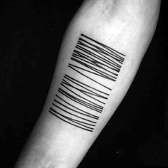 Barcode Tattoos Lines Design For Guys