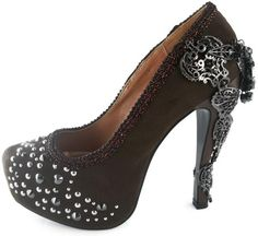 Hades Footwear Brown Suede Amina Heels - Louder Than Love Shop - 1