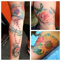 #susannahgriggs #eternalink #neotats #neotatartist #neotatladies #neotatmachines #rose #colortattoo #tattoo #michigantattooers #ladytattooers