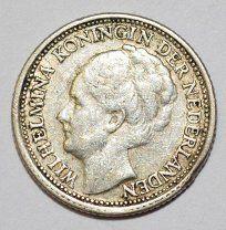 #Нидерланды. Вильгельмина. 10 центов 1937г. #306-073 - 120 р. #  NETHERLANDS KM# 163Нидерланды Coins, Auction, Personalized Items, Coining, Rooms