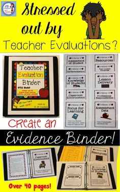 """This comprehensive bundle will assist you in putting together an evidence based binder that covers all standards in the evaluation process! More than just colorful dividers, this product focuses on providing you with copies of valuable resources, ideas, and tools! I was trained as a teacher evaluator and by organizing my evidence, I was able to achieve an """"accomplished"""" rating 2 years in a row…"""