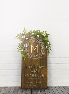 This Wood Wedding Sign is the perfect way to congratulate the newly weds! The modern and elegant design makes a great engagement or wedding gift and will be a favorite for the couple! Customize by adding a monogram along with the couples names and their wedding date to really make it special! Version Shown Above: Early American with White Paint ______________________________________ Board Measurements: 11.25 wide x 23.35 tall x 3/4 thick ______________________________________ Wood Typ...