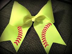 Hey, I found this really awesome Etsy listing at http://www.etsy.com/listing/150145464/softballbaseball-bow-3grosgain-with-5