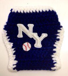 New York Yankees Baseball Crochet Baby Diaper Cover on Etsy, $10.00