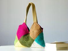 Shoulder Bags – Patchy crochet Bag,Four Season Crochet bag – a unique product by NzLbags on DaWanda