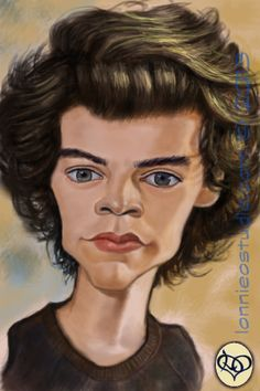 """""""HARRY STYLES"""" #caricatures by lonnieostudio."""