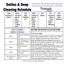 housework schedule - Google Search