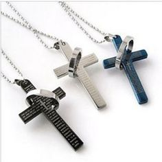 Check out our catholic cross pendant necklace!  Metal pendant comes in black, silver, or blue  The necklace comes with a link chain that lengths 51cm for your convenience.  Get your very own today on our website! Link in bio.  #Jewelry #instajewelry #musthave #style#jewelryforsale #fashion #beauty #gorgeous#cute #follow4follow #followforfollow #girls#stylish #love #lovejewelry #jewelryaddict#women #dainty #styling #nice #makeup#jewelryoftheday #smile #takesforlikes#accessories #design…