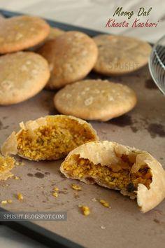 Spusht   Moong Dal Khasta Kachori Recipe #snack #kachori #recipe