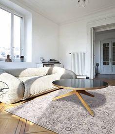 8912 White Woodstock - The BoBohemian Collection #flatdown #flatweave #chenille #jacquard #woven #handfinished #flooring #madeinbelgium #wool #louisdepoortere #BoBo #Bobohemian #erased #medallion #vintage