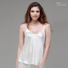 52a990c7b6fb2 Wholesale - --100% silk sleepwear Undershirt Women s Silk Camisole(S296