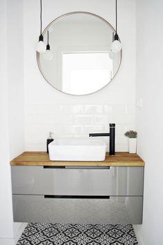 Wzorzyste kafle w łazience