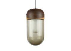 Bell - pendant lamp. walnut. smoked glass.  http://www.magnuspettersen.com