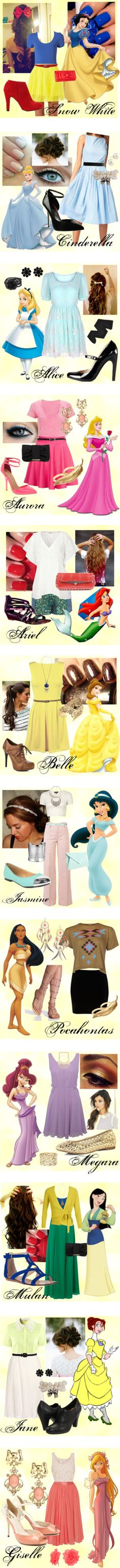 Disney Outfits, would easily wear all of these!