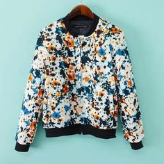 Jackets for women casual painting printing zipper design tops CY-A912C6