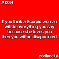 Scorpio woman is not a follower