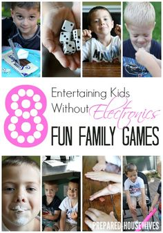 Entertaining kids without electronics... fun family games!