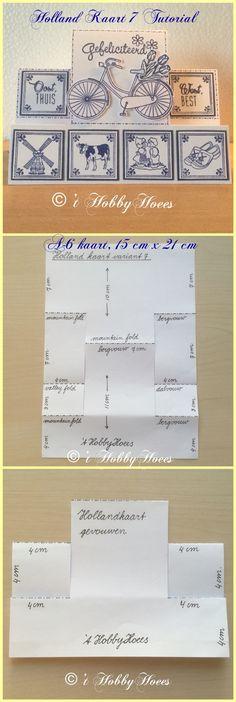 Holland Kaart Variant 7. Werkbeschrijving / Tutorial. 't HobbyHoees 27 juni 2015