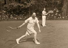 Heinrich Himmler and Karl Wolff is a relaxing game of tennis