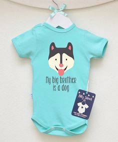Cute Husky Baby Bodysuit. Dog Baby Clothes. by LittlePrincessTara