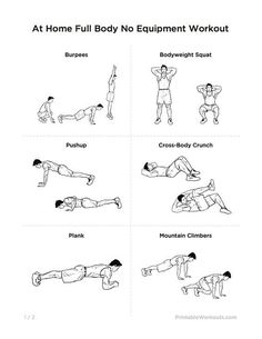 no equipment 30 day workout program pdf