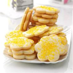 Lemon Butter Cookies Recipe -These tender cutout cookies have a slight lemon flavor that makes them stand out from the rest. They're very easy to roll out compared to other sugar cookies I've worked with. I know you'll enjoy them as much as we do. —Judy McCreight, Springfield, Illinois