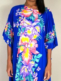 tropical floral caftan  TigerlilyFrocks