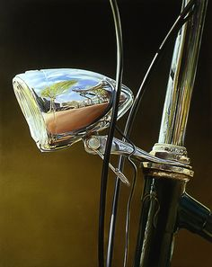 Cannot believe this is a painting... absolutely amazing!  Painting by Tjalf Sparnaay 'Fiets' 100 x 80 cm