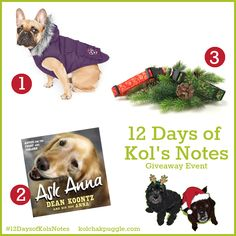 Enter to win a dog coat from Canada Pooch, a handmade custom dog collar from K9 Bytes and a copy of the book Ask Anna by Dean Koontz. US/CAN 12/20 #ContestEntry