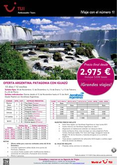 ¡Grandes viajes! Oferta Argentina: Patagonia con Iguazú. Precio final desde 2.975€ - http://zocotours.com/grandes-viajes-oferta-argentina-patagonia-con-iguazu-precio-final-desde-2-975e/